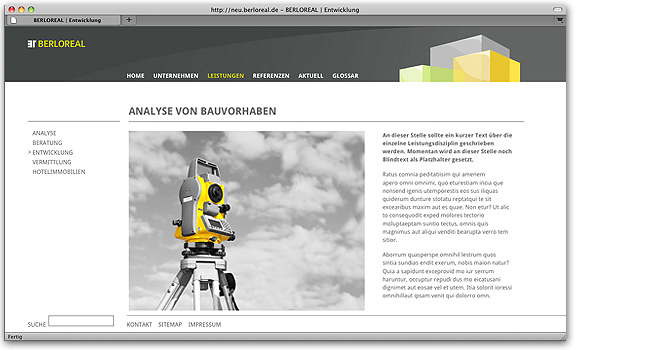 Webdesign: Website BerloReal Internet