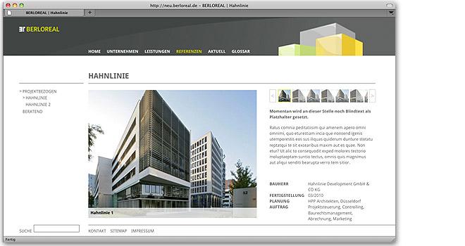 Webdesign und Immobilienmarketing: BerloReal Internet
