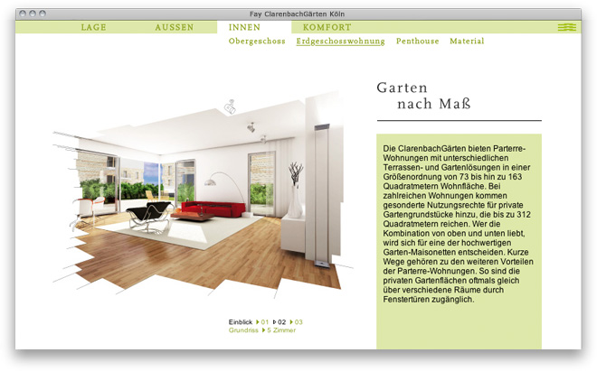 Webdesign: Website Fay ClarenbachGärten