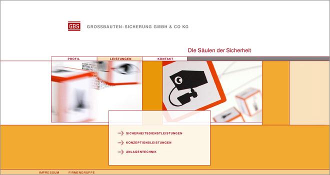 Webdesign: GBS Unternehmens-Homepage