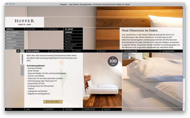 Webdesign: Redesign Website Hopper Hotels