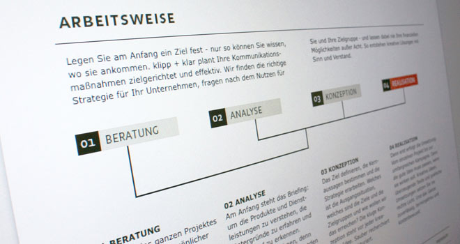 Webdesign: Homepage Klipp + Klar