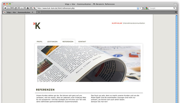 Webdesign: Internet Klipp + Klar