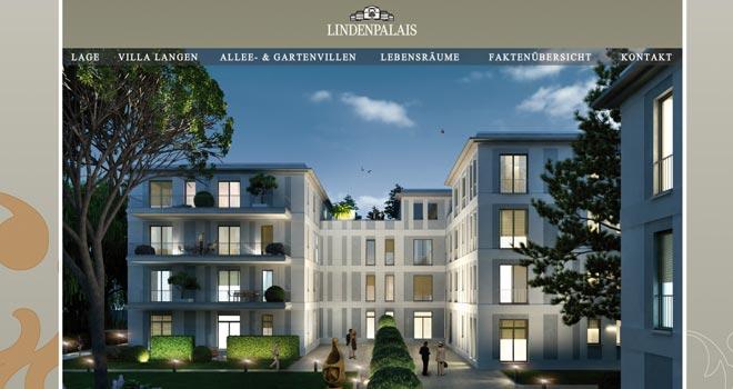 Immobilienmarketing und Webdesign: Website Lindenpalais