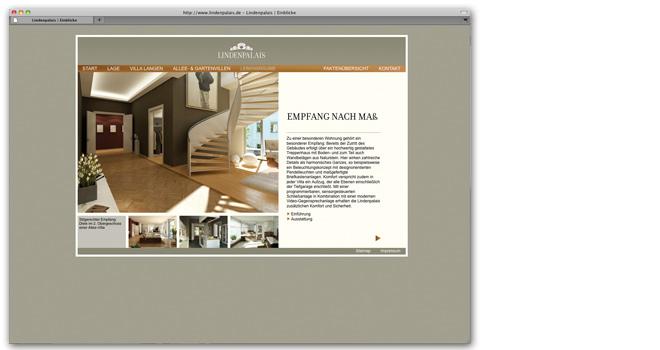 Immobilienmarketing: Website Lindenpalais