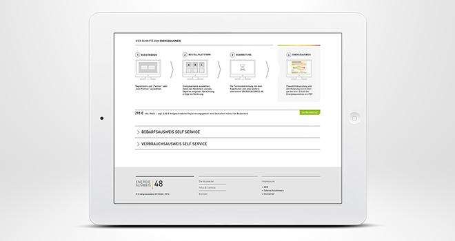 Responsive Web Design: Flowfact AG / Energieausweis 48 - 4 Schritte zum Energieausweis