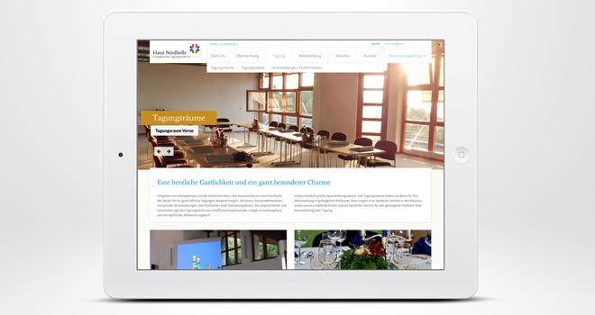 Responsive Website: Haus Nordhelle - Tagungsräume