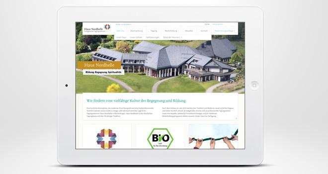 Responsive Website: Haus Nordhelle - Über Uns