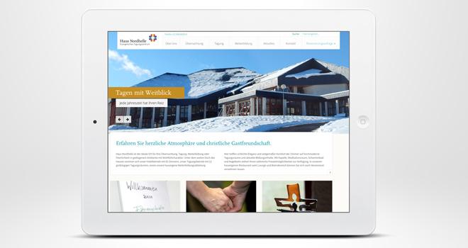 Responsive Website: Haus Nordhelle - Tagen mit Weitblick