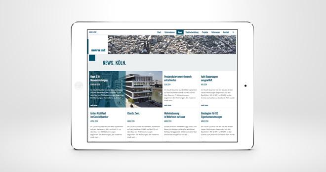 Relaunch Corporate Website // moderne stadt: News
