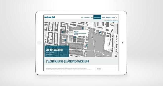 Relaunch Corporate Website // moderne stadt: Stadtentwicklung