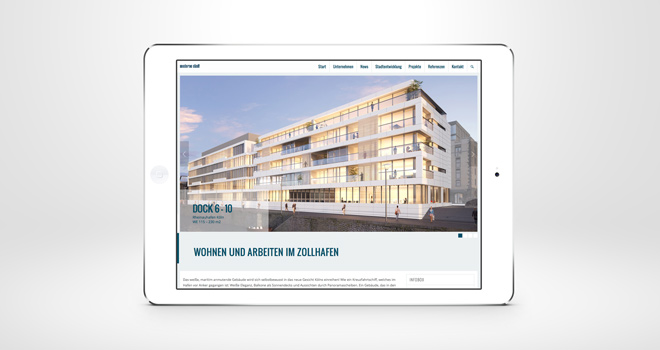 Relaunch Corporate Website // moderne stadt: Projekt Detailpage