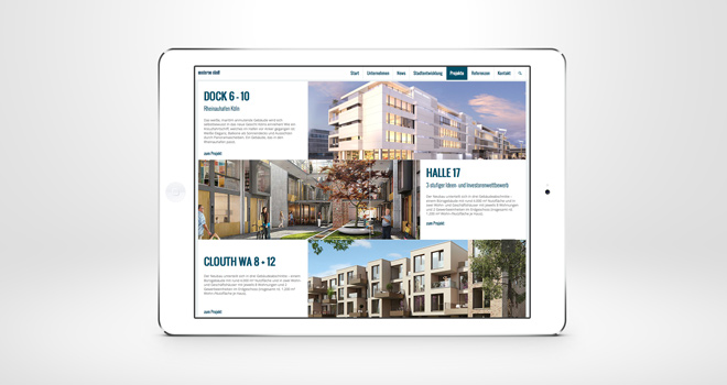 Relaunch Corporate Website // moderne stadt: Projekte