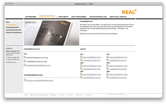 Website Relaunch Realquadrat