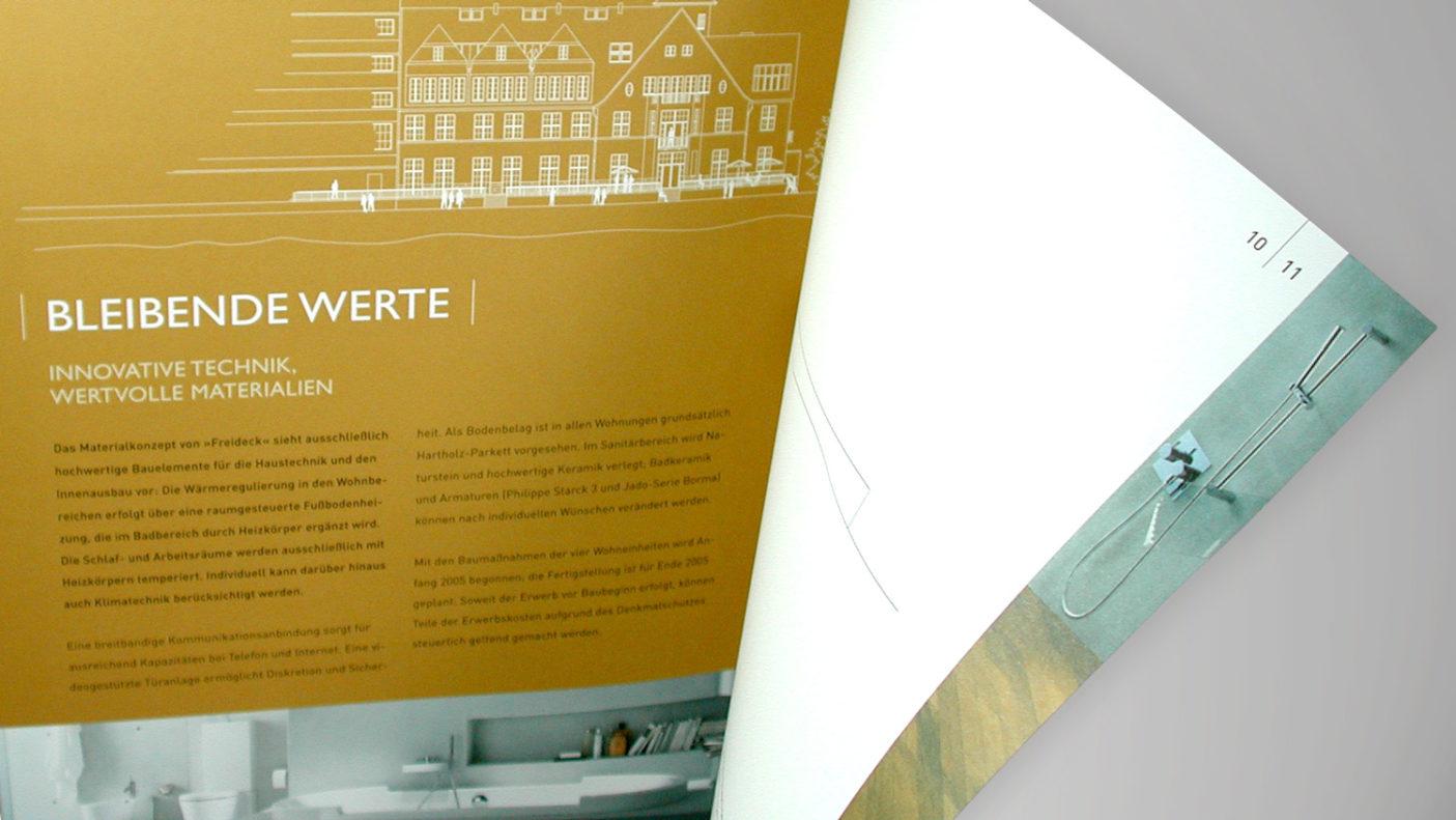 Corporate Design und Immobilienmarketing für »Freideck«