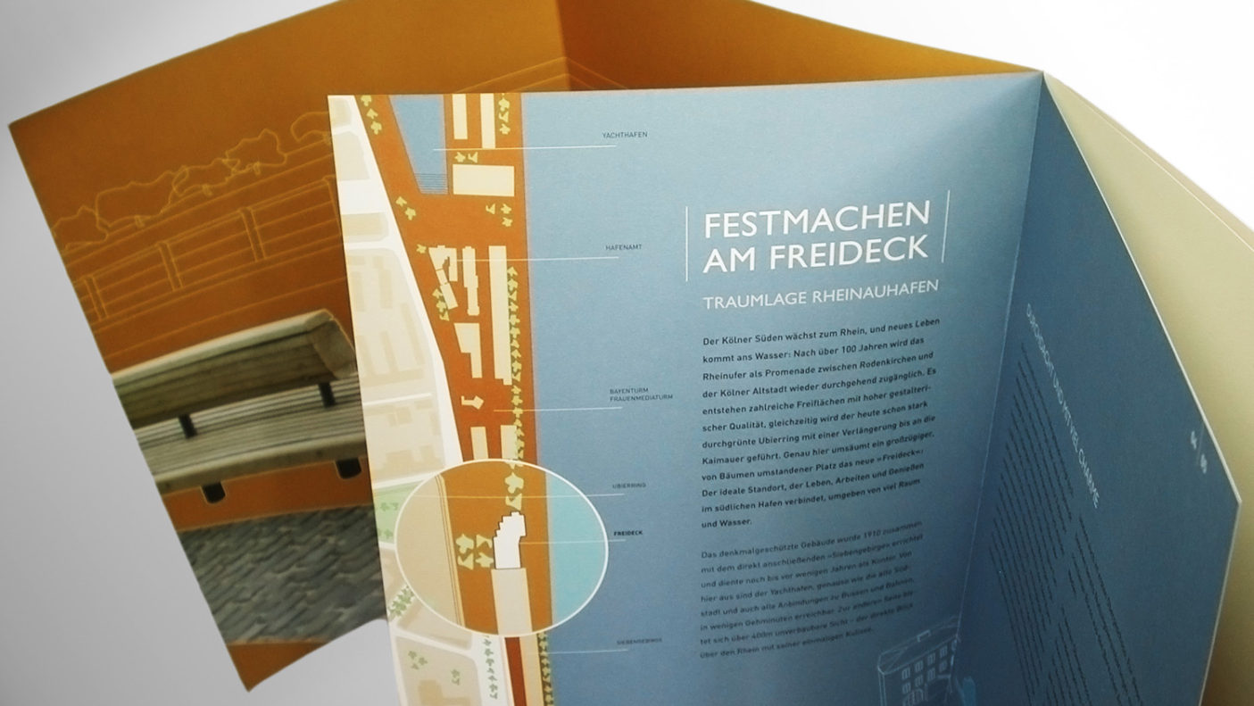 Corporate Design und Immobilienmarketing für »Freideck«