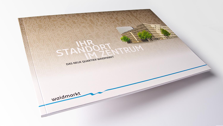 Gewerbliches Immobilien-Exposé für Stadtquartier am Waidmarkt