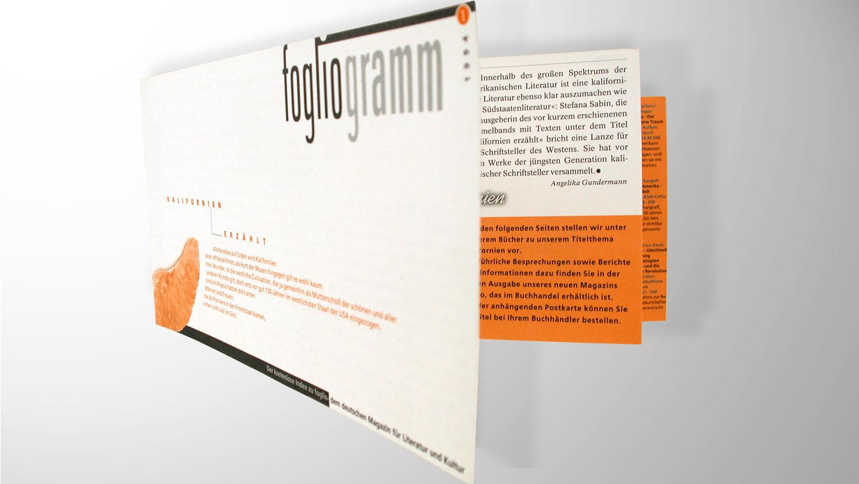 Magazingestaltung: Beilage Foglio Kulturmagazin Köln