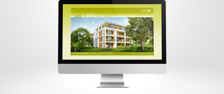 Homepage Design für Immobilienprojekt »LerbachGärten«