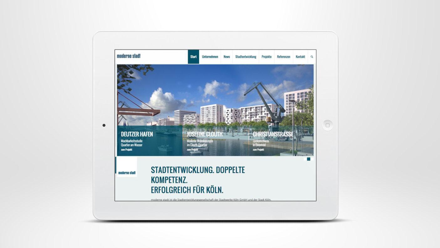 Responsive Website für die »moderne stadt«