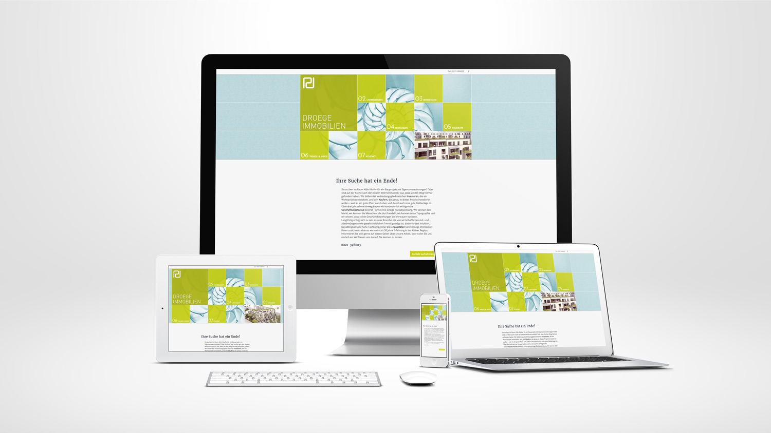 Redesign Responsive Website Startseite
