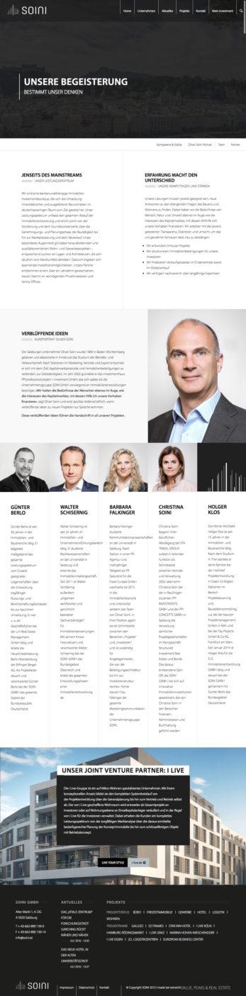 Responsive Website Team-Übersicht