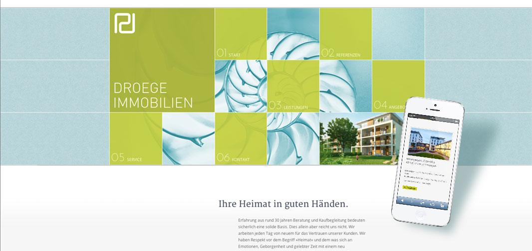 Responsive Web Design: reinsicht baut neuen Web-Auftritt für Dröge Immobilien – mit klarer Struktur und individuellen Möglichkeiten.