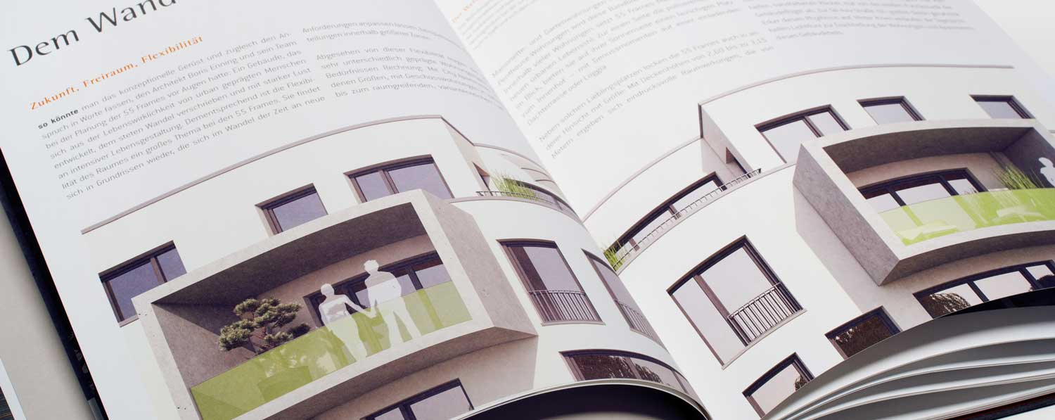 Editorial Design und Immobilienmarketing Köln