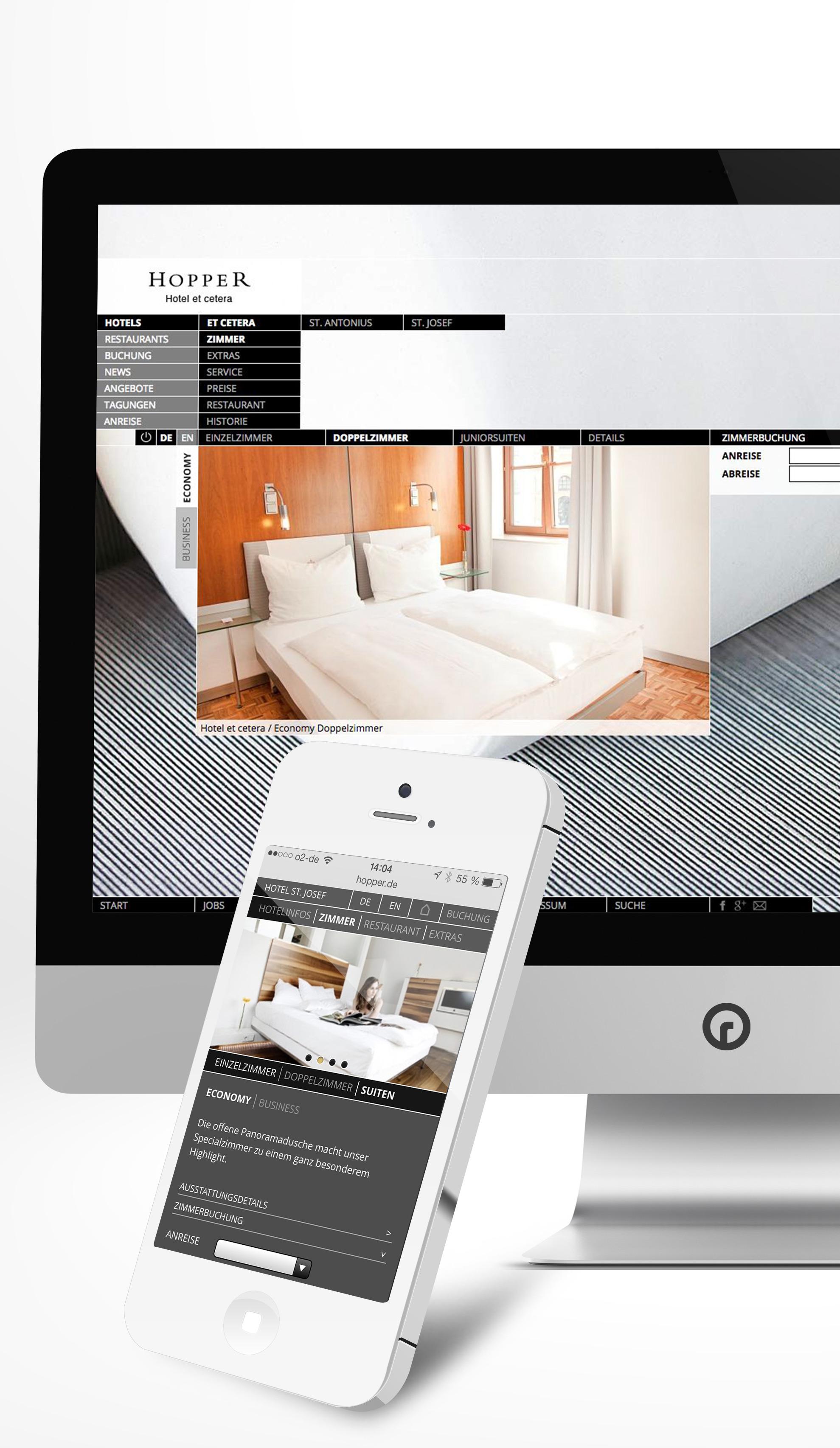 Website für Kölner Hopper Hotels