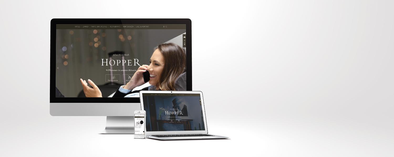 Reinsicht gestaltete die 4. Generation der Hopper Website